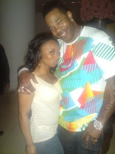 My girl with Busta Rhymes in club Paper