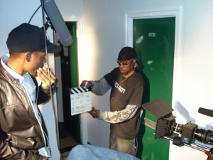 Mo-Am Film Crew Shooting a scene