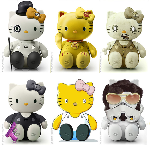 We have seen Joseph Senior's Cool Hello Kitty Maskups, here check out his